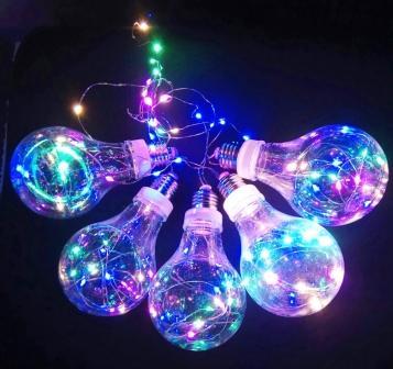 """Гирлянда """"Лампочки L"""", 5 ламп, LED, colour"""