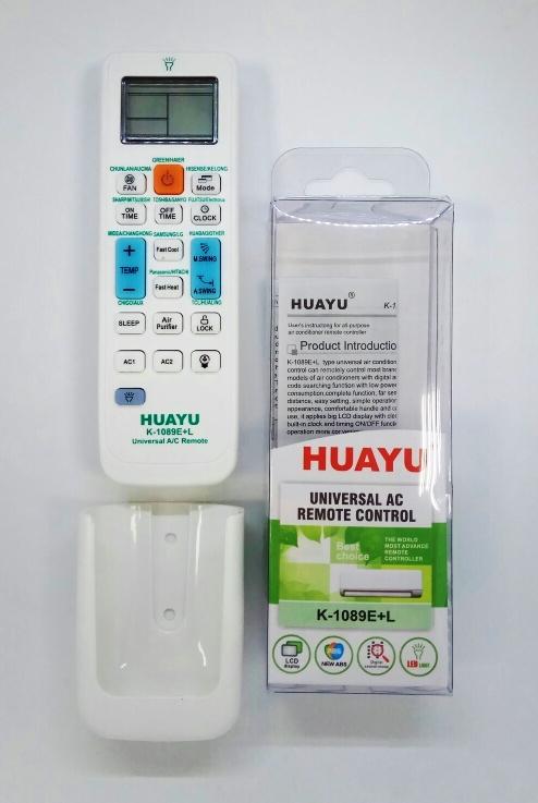 Универс пульт для кондиционеров HUAYU K-1089E+L, крепление. 2*ААА 1/50/200