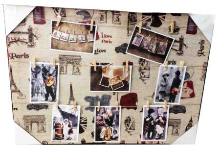 """Фоторамка """"Коллаж"""" с прищепками I Love Paris 495*695mm"""
