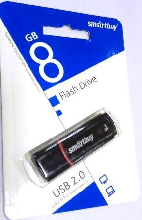 Флеш-накопитель USB  8GB  Smart Buy  Crown чёрный