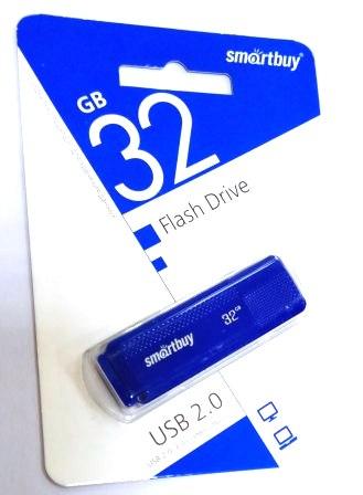 Флеш-накопитель USB  32GB  Smart Buy  Dock синий