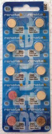 Элемент питания Renata 395 (SR927SW)0%Hg BL-10/100