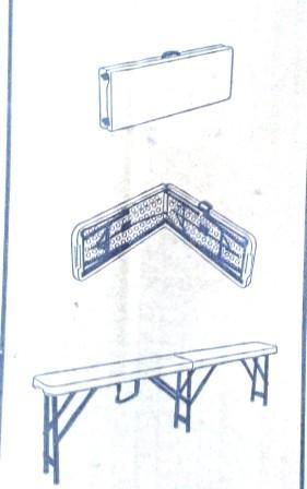 Скамья складная BANC PLANT, 182.5*27.5*44см УЦЕНКА