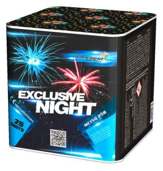 "Батарея салютов ""EXCLUSIVE NIGHT""  25 залпов * 1.5""  1/4"