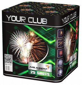 "Батарея салютов ""YOUR CLUB""  25 залпов * 1.7""  1/4"