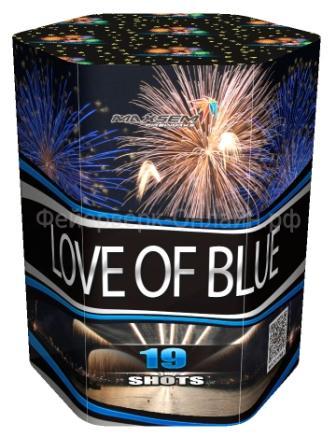 "Батарея салютов ""LOVE OF BLUE""  19 залпов * 1.2""  1/8"