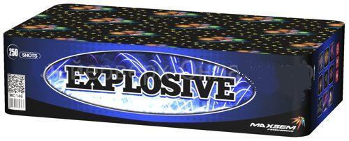 """Батарея салютов """"EXPLOSIVE""""  250 залпов * 0,8""""  1/2"""