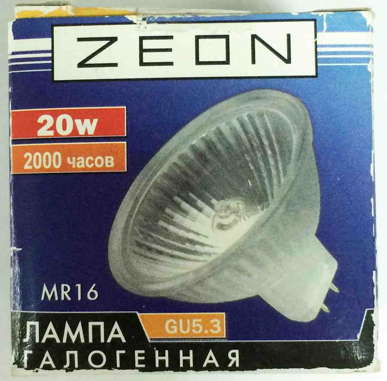 Лампа галогенная ZEON  MR16 12V 20W  GU5.3
