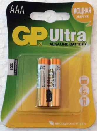 Элемент питания GP LR03 24AU Ultra к-т2шт 1/10
