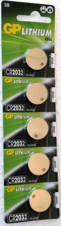 Элемент питания GP CR2032 к-т5шт 1/20