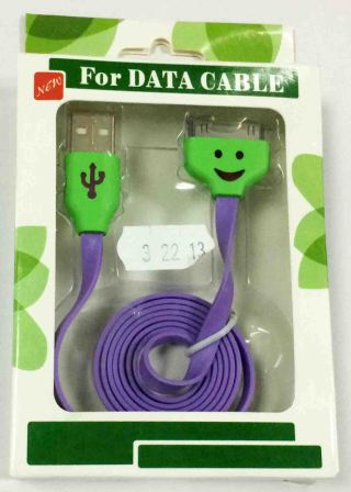 кабель USB Iphone 4S/4G/3GS Led 32213 dark purple
