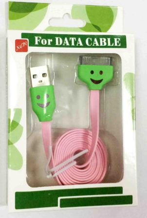 кабель USB Iphone 4S/4G/3GS Led 32213 pink