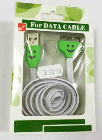 кабель USB Iphone 4S/4G/3GS Led 32213 white