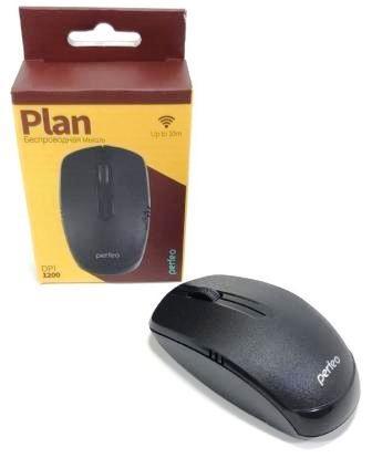 "Perfeo мышь беспров., оптич. ""PLAN"", 3 кн, PF_A4504, USB, чёрн."