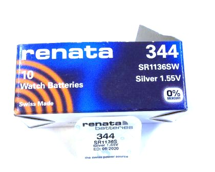 Элемент питания Renata 344 (SW1136SW) 0%Hg BL-1/10