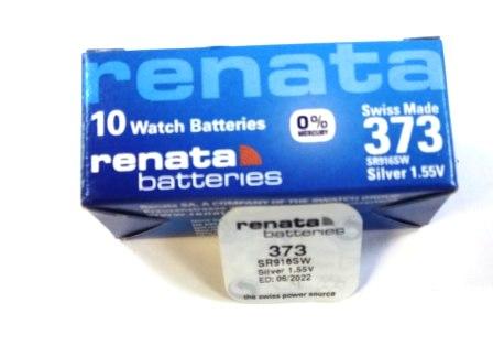 Элемент питания Renata 373 (SR916SW)0%Hg BL-1/10