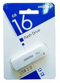 Флеш-накопитель USB  16GB  Smart Buy  LM05 белый