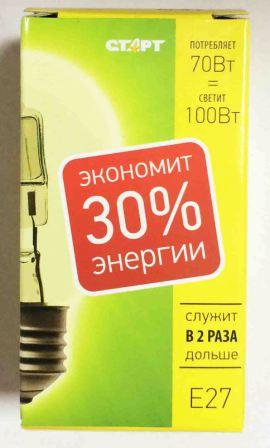 Лампа СТАРТ ГЛН Б 70Вт Е27 галогенная