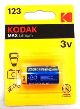 Элемент питания Kodak CR123 [ K123LA] (6/12/10800)