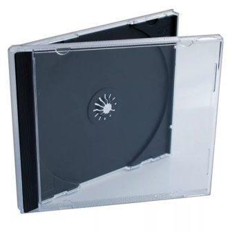 CD box черный одинарн.(10/200)