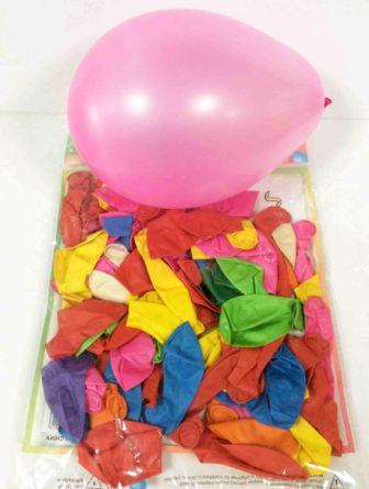 """Набор шариков разноцветные 9"""" 100шт №70261"""