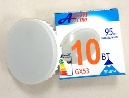 Лампа AktivElektro LED GX53 10Вт 4000К /100