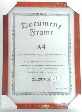 Фоторамка деревянная 21х30, плоский багет , оранжевая/48