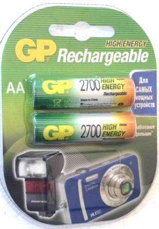 Аккумуляторные GP NIMH 2700 R6-2 BL/20/160
