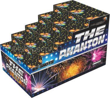 "Батарея салютов ""THE PHANTON""  66 залпов *0.8-1-1.2-1.5-2""  1/2"