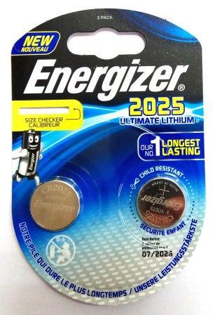 Элемент питания ENR CR2025 Ultimate Lithium S BL2