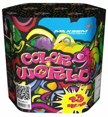 "Батарея салютов ""COLOR WORLD""  13 залпов * 1.2""  1/10"