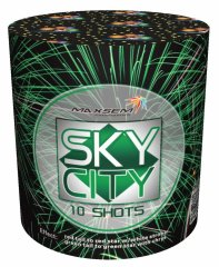 "Батарея салютов ""SKY CITY  218-97""  10 залпов * 0.8""  1/30"