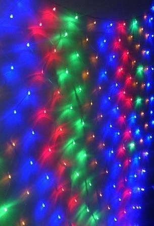 Сетка 45610 2х3м 320Led, 8 режимов, color,соединяемая