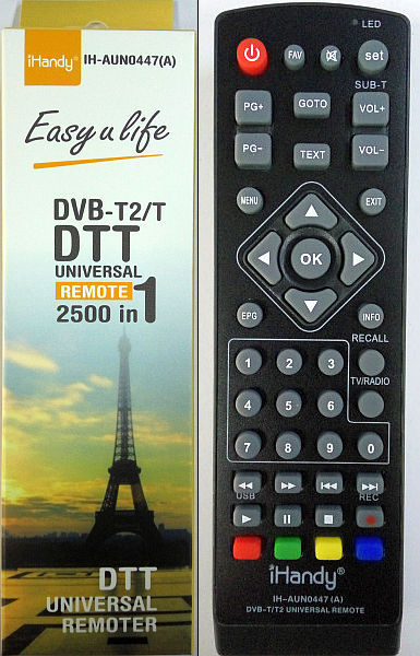 Универс пульт для цифровых приставок DVB-T2/T