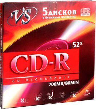 Диск VS CD-R 80 52x конверт/5
