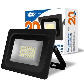 Прожектор светодиодный ТМ IONICH IFLSLED-DOB- 20-865-BL-IP65 (YK1810 )