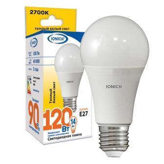 Лампа светодиодная IONICH A60 14Вт 2700К E27