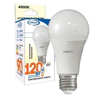 Лампа светодиодная IONICH A60 14Вт 4000К E27