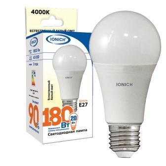 Лампа светодиодная IONICH A60 20Вт 4000К E27