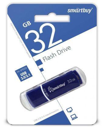 Флеш-накопитель USB 3.0  32GB  Smart Buy Crown синий
