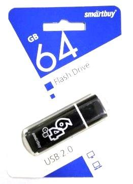 Флеш-накопитель USB  64GB  Smart Buy  Glossy черный