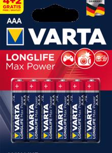 4703 Элемент питания к-т4+2 VARTA LONGLIFE MAX POWER lr03 1/10/50