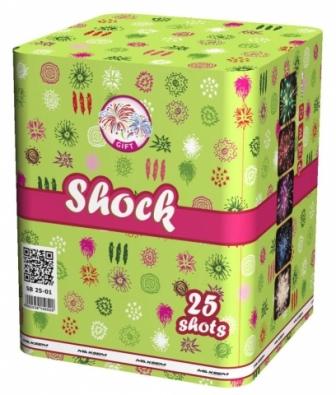 "Батарея салютов ""SHOCK""  25 залпов * 1.2""  1/4"