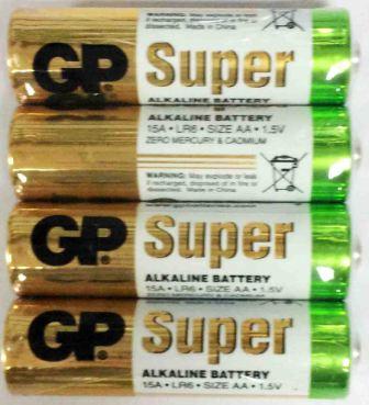 Элемент питания GP LR 6 15A Super Alkaline shrink-4/96