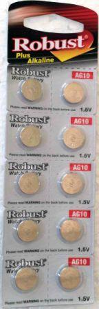 Элемент питания Robust G10 (389/LR1130/LR54) (10)