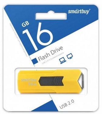 Флеш-накопитель USB  16GB  Smart Buy  Stream жёлтый