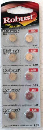 Элемент питания  Robust G6 (370/LR920/LR69) (10)