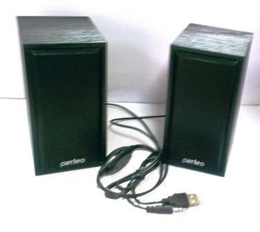 """Колонки Perfeo """"Cabinet"""" 2.0, USB черное дерево PF-84"""