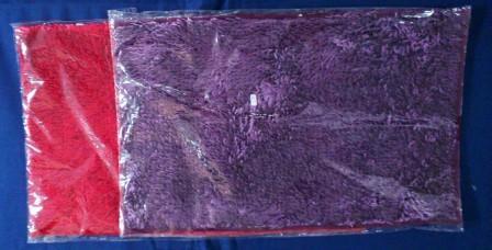 В062 Коврик мохнатый шелк  50х80