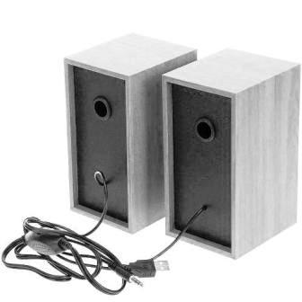 "Колонки Perfeo ""Cabinet"" 2.0, USB белый дуб"